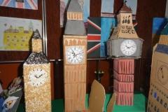 Big Ben w pracach dzieci