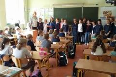 Powitanie pierwszoklasistów przez klasę 3d