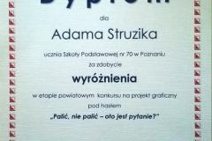 Wyróżnienie Adama stózyka w konkursie Palić,