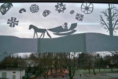 Zimowe dekoracje okien